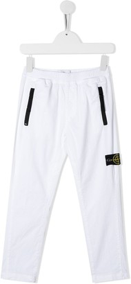 Stone Island Junior Slim Fit Logo Patch Detail Track Pants