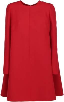 Valentino A Line Asymmetric Hem Mini Dress