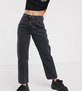 Collusion COLLUSION x006 Petite mom jeans in washed black