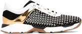 Rene Caovilla panel studded sneakers - women - Leather/Suede/plastic/rubber - 35
