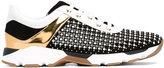 Rene Caovilla panel studded sneakers