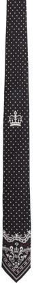 Dolce & Gabbana Black Bandana Dot Tie