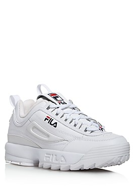 Fila Women's Disruptor Ii Premium Lace Up Leather Dad Sneakers