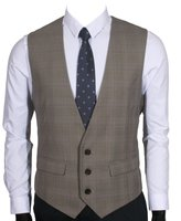 Ruth&Boaz Men's 2Pockets 3Button Business Suit Vest (XL, )