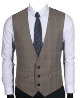 Ruth&Boazen's 2Pockets 3Button Business Suit Vest