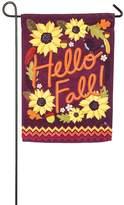 "Evergreen Hello Fall!"" Indoor / Outdoor Garden Flag"