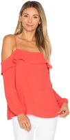 1 STATE Cold Shoulder with Ruffle Top