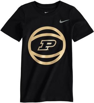 Nike Preschool Black Purdue Boilermakers Basketball and Logo T-Shirt