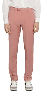 Sandro Slim-Fit Pink Suit Pants