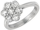 Morris & David Diamond and 14K White Gold Flower Ring, 1.75TCW