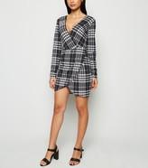 New Look AX Paris Check Wrap Bodycon Dress