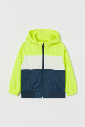 H&M Hooded Windbreaker - Yellow