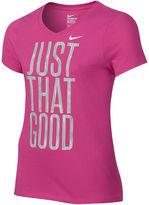 Nike Short-Sleeve Just That Good Cotton Tee - Girls 7-16