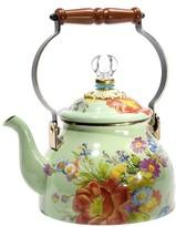 Mackenzie Childs MacKenzie-Childs - Flower Market Enamel Tea Kettle - Green - Small