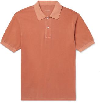SAVE KHAKI UNITED Slim-Fit Pigment-Dyed Organic Cotton-Pique Polo Shirt