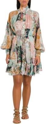 Zimmermann Wavelenght Pinafore Short Dress