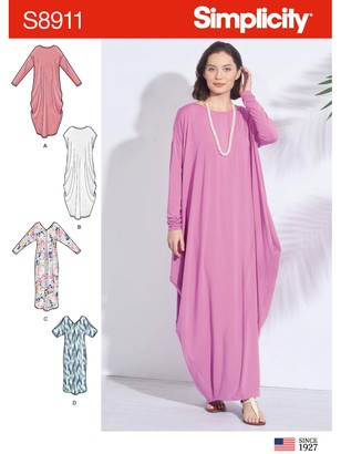 Simplicity Women's Kaftan Dress Sewing Pattern, 8911