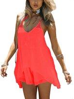 FNKS CRAFT Women's Beach Cover Up Casual Sun Dress Maxi Tanks Swimsuit