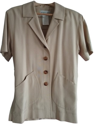 Jacques Fath Beige Viscose Jackets