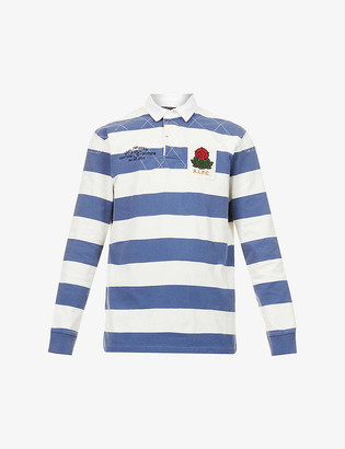 Polo Ralph Lauren Stripe-print branded cotton rugby shirt