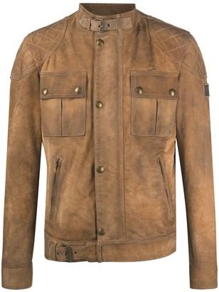 Belstaff Brookstone burnished suede jacket