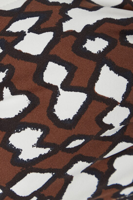 Eres Show Iconic Printed Bandeau Bikini Top - Brown