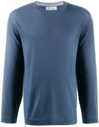 Brunello Cucinelli Crew Neck Relaxed-Fit Jumper