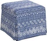 Skyline Furniture Anne Skirted Storage Ottoman, Indigo