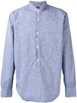 Eleventy Corean shirt - men - Cotton/Linen/Flax - 43