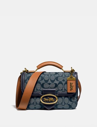 Coach Riley Top Handle 22 In Signature Chambray