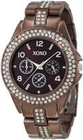 XOXO Women's XO5457 Rhinestone Accent Chocolate Analog Bracelet Watch