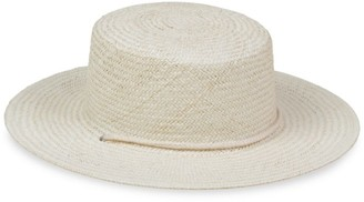 LACK OF COLOR Wanderer Woven Wide-Brim Boater Hat