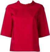 Lareida 'Rocco' frilled short sleeve blouse - women - Cotton - 34