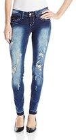 YMI Jeanswear Junior's Wannabettabutt Release Hem Skinny