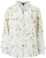 Baukjen Jasmine Blouse In Soft White Meadow Floral