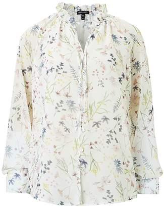 Baukjen Jasmine Blouse In Soft White Meadow Floral