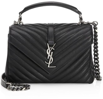 Saint Laurent Medium College Matelasse Leather Bag