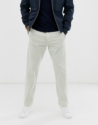 French Connection slim fit chino trousers-Grey