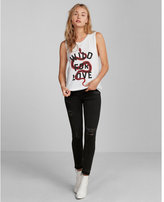 Express wild for love graphic tank
