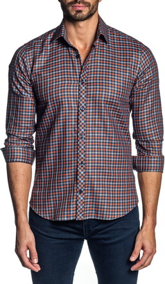 Jared Lang Regular Fit Plaid Button-Up Shirt