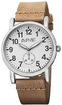 August Steiner Women's AS8110TN Swiss Quartz Silver-tone Tan Leather Strap Watch