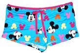 Disney Classic Mickey Mouse Women Pajama Boxer Shorts -Mickey Head Print