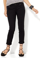 New York & Co. Soho Jeans - Zip-Accent Boyfriend - Black