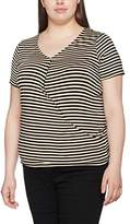Evans Women's Stripe Wrap T-Shirt