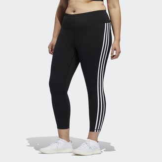 adidas Believe This 3-Stripes 7/8 Tights (Plus Size)