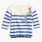 J.Crew Girls' striped sequin mermaid T-shirt