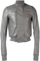 Rick Owens cropped bomber jacket - men - Cotton/Goat Skin/Cupro/Virgin Wool - 48