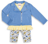 Little Lass Baby Girls Three-Piece Jacket, Top and Pants Set