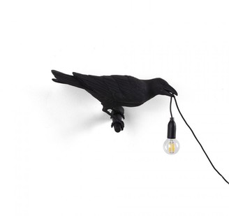 Seletti Black Looking Right Outdoor Bird Lamp - resin | black - Black/Black