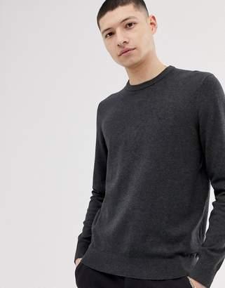 Calvin Klein Jeans chest logo crew neck jumper-Grey